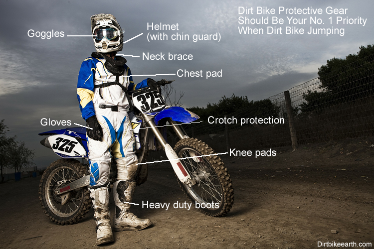 Dirt bike protection should be your priority when dirt bike jumping