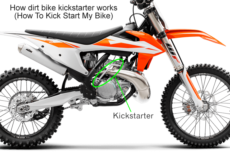 How a dirt bike kickstarter works - How To Kick Start My Bike