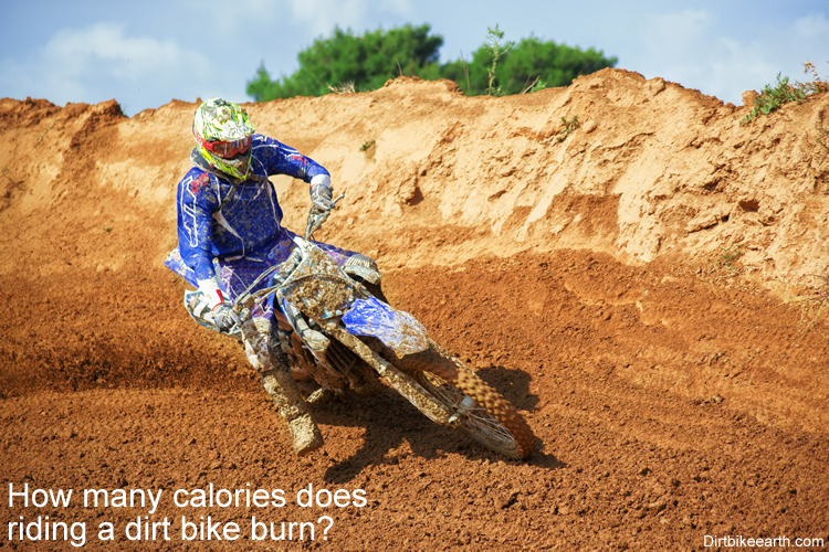 How many calories does riding a dirt bike burn